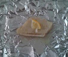 冷凍カレイレモンホイル巻き