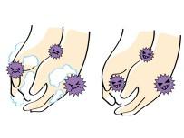 手についた菌